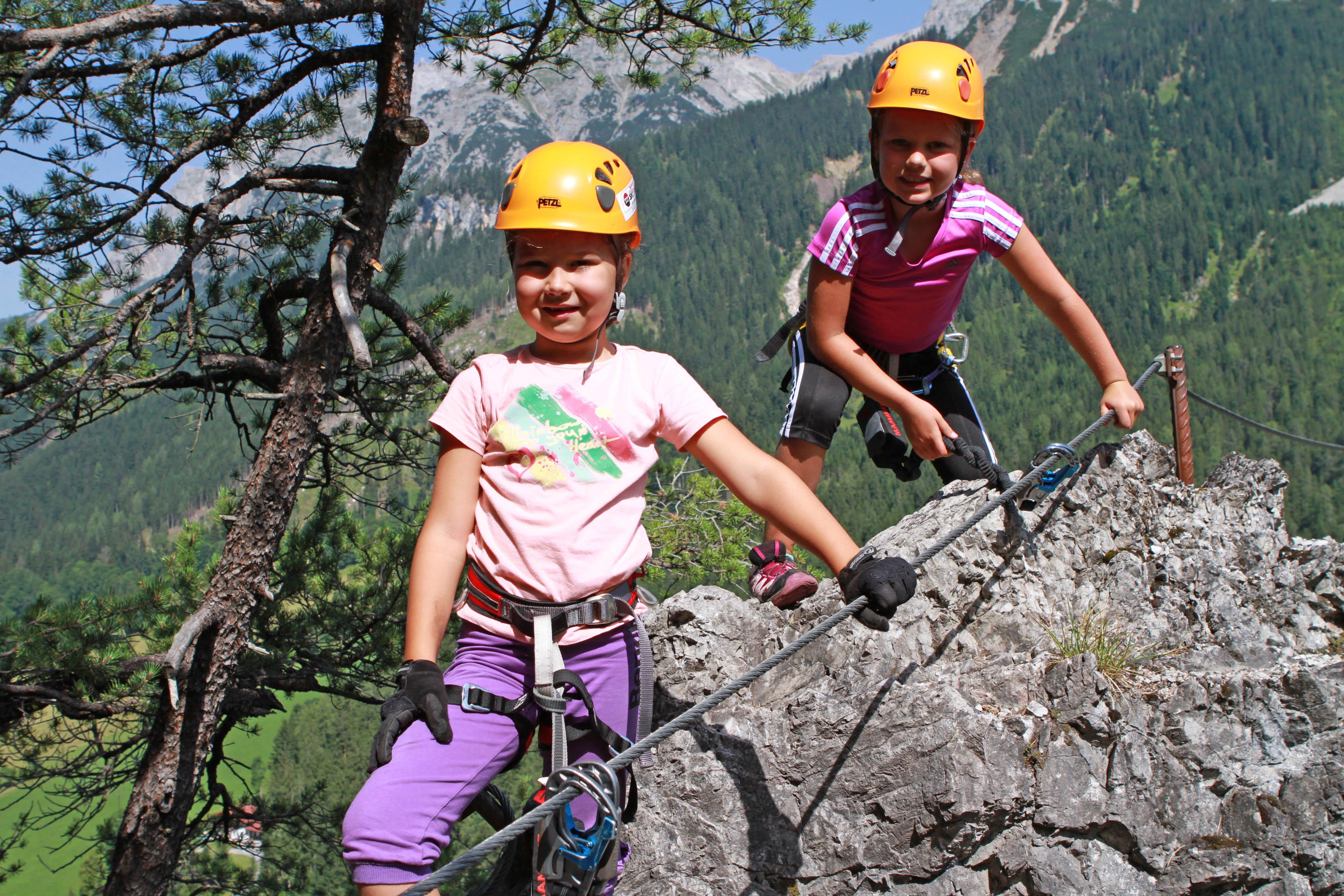 Klettersteig Ramsau : Kindergarten klettersteig in ramsau dachstein