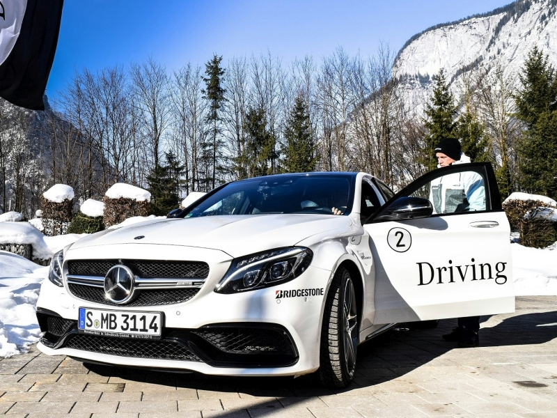 Fabian Hambüchen bei Mercedes-Driving Event in Saalfelden